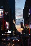 Het Vierkant van de Tijd van de Stad van New York royalty-vrije stock foto's