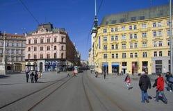 Het vierkant van de vrijheid in Brno Royalty-vrije Stock Foto's