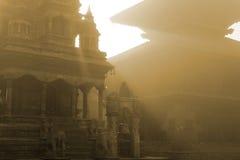 Het Vierkant van Durbar in Bhaktapur Stock Foto