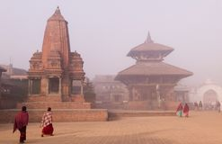 Het Vierkant van Durbar in Bhaktapur Royalty-vrije Stock Afbeelding