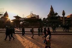 Het Vierkant van Durbar van Patan in Nepal royalty-vrije stock foto