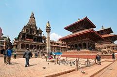 Het vierkant van Durbar van Patan stock fotografie