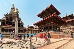 Het vierkant van Durbar van Patan stock afbeeldingen