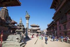 Het Vierkant van Durbar van Patan, Nepal Royalty-vrije Stock Foto's