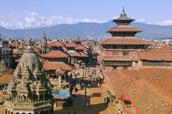 Het Vierkant van Durbar van Patan in Nepal Royalty-vrije Stock Afbeeldingen