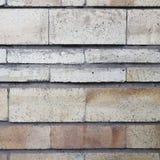 Het vierkant van een oude bakstenen muur witte en roze kleur voor een achtergrondtextuur Stock Foto