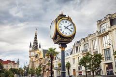 Het Vierkant van Europa in Batumi stock foto's