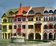 Het vierkant van Europa in Komarno Royalty-vrije Stock Foto's