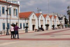 Het vierkant van Europa in Larnaca, Cyprus Royalty-vrije Stock Foto