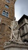 Het Vierkant van Florence - Signoria- stock afbeelding