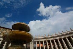 Het Vierkant van heilige Peter. De Stad van Vatikaan royalty-vrije stock foto's