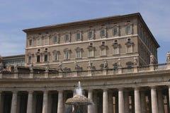 Het Vierkant van heilige Peter, Rome Royalty-vrije Stock Afbeeldingen