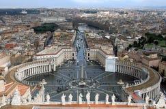 Het Vierkant van heilige Peter. Rome. Italië. stock afbeelding