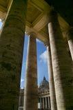 Het vierkant van heilige Peter - Rome - Italië Stock Afbeelding