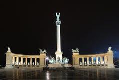 Het Vierkant van helden - Boedapest Royalty-vrije Stock Afbeeldingen