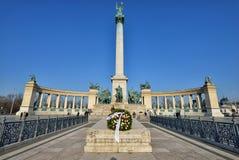 Het Vierkant van helden, Boedapest stock fotografie
