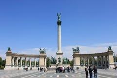 Het Vierkant van helden, Boedapest, Hongarije Stock Afbeelding