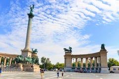 Het Vierkant van helden in Boedapest op 25 Juli, 2014 Royalty-vrije Stock Afbeelding