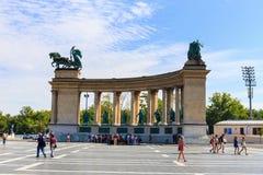 Het Vierkant van helden in Boedapest op 25 Juli, 2014 Royalty-vrije Stock Foto's