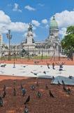 Het vierkant van het congres in Buenos aires, Argentinië Stock Fotografie