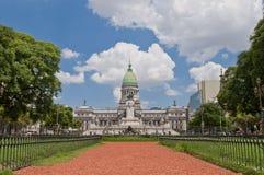 Het vierkant van het congres in Buenos aires, Argentinië Stock Afbeelding