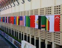 Het Vierkant van het dorp van het Olympische Dorp Singapore van de Jeugd Stock Afbeeldingen