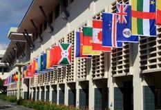 Het Vierkant van het dorp van het Olympische Dorp van de Jeugd Royalty-vrije Stock Fotografie