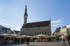 Het Vierkant van het Stadhuis Royalty-vrije Stock Foto