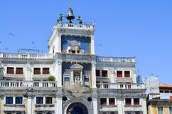 Het vierkant van het Teken van heilige in Venetië, Italië stock foto