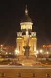 Het vierkant van Iancu van Avram in Cluj Napoca, Roemenië Stock Foto