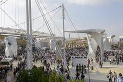 Het vierkant van Italië overvol met bezoekers, EXPO 2015 Milaan Royalty-vrije Stock Foto