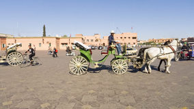 Het vierkant van Jemaagr Fna, Marrakech, Marokko Royalty-vrije Stock Foto