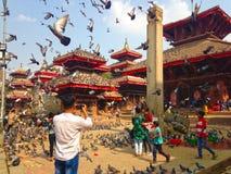 Het Vierkant van Katmandu Durbar in Katmandu royalty-vrije stock foto's