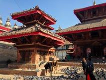 Het Vierkant van Katmandu Durbar in Katmandu Royalty-vrije Stock Foto