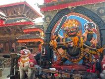 Het Vierkant van Katmandu Durbar in Katmandu Stock Foto's