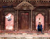 Het Vierkant van Katmandu Durbar, Nepal stock afbeeldingen
