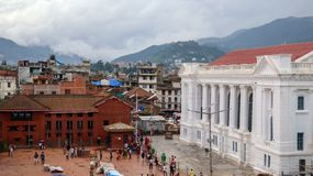 Het Vierkant van Katmandu Durbar in Nepal royalty-vrije stock foto