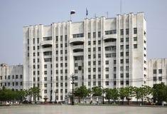 Het Vierkant van Lenin in Khabarovsk Rusland stock afbeeldingen