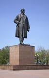 Het vierkant van Lenin in yuzhno-Sakhalinsk Het eiland van Sakhalin Rusland stock afbeelding