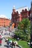 Het vierkant van Manege op de dag van de Overwinning, Moskou Stock Foto's