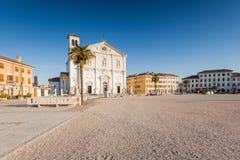 Het vierkant van Palmanova, Venetiaanse vesting in Friuli Venezia Giu Stock Foto's
