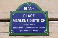 Het vierkant van Parijs - van Marlene Dietrich Royalty-vrije Stock Afbeeldingen