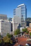 Het Vierkant van het pioniersgerechtsgebouw in Portland, Oregon stock fotografie