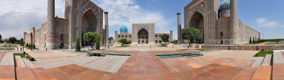 Het Vierkant van Registan in Samarkand Royalty-vrije Stock Afbeelding