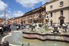Het vierkant van Rome - Navona- Royalty-vrije Stock Afbeeldingen