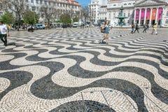 Het vierkant van Rossio in Lissabon royalty-vrije stock afbeelding