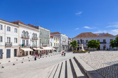 Het Vierkant van Sada Bandeira, het belangrijkste vierkant van de stad van Santarem Royalty-vrije Stock Foto