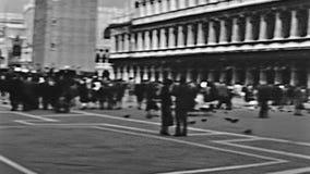 Het vierkant van San Marco stock footage