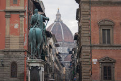 Het vierkant van Santissimaannunziata Florence (Italië) royalty-vrije stock foto's