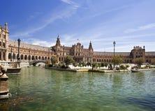 Het Vierkant van Sevilla Spanje stock foto's